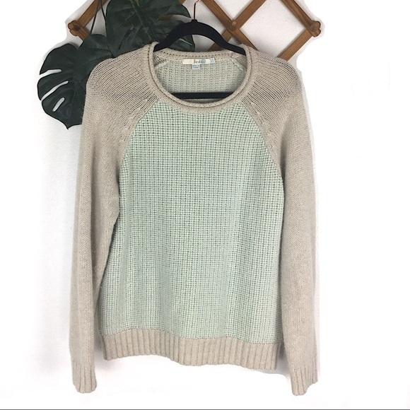 Boden Sweaters - Boden Alpaca Wool Soft Blue Sweater Blue Cream 14